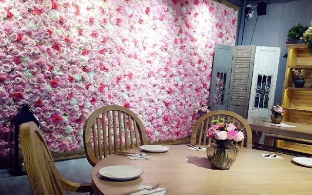 花元素鲜花主题餐厅