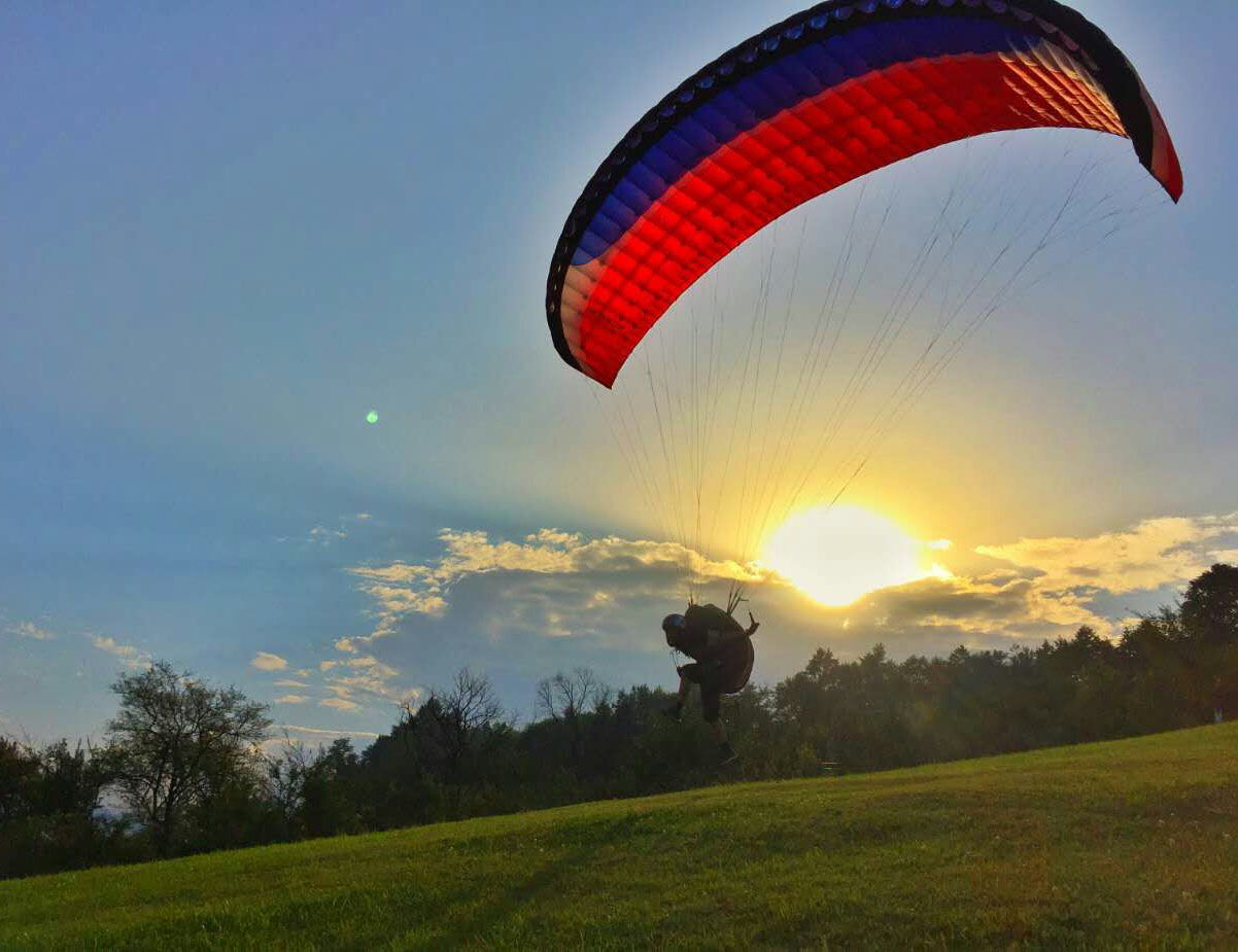 成都玩滑翔伞的地方,成都大坪滑翔伞乐园